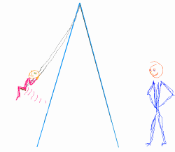 Sketch - child swings normally